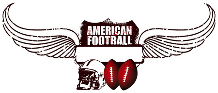 afl: american football shield with wings
