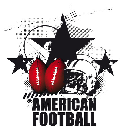 grunge american football scene Reklamní fotografie - 36646863