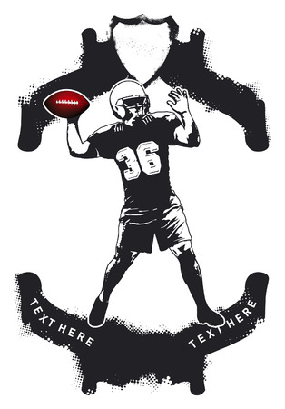 afl: american football scene with player Illustration
