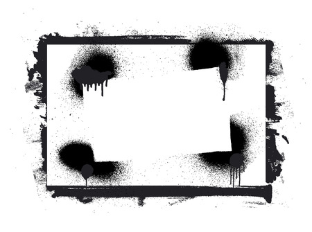 inky: stencil and grunge inky frame