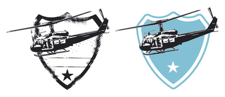 force: air force shield with helicopters
