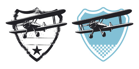 air force shield with plane Illustration
