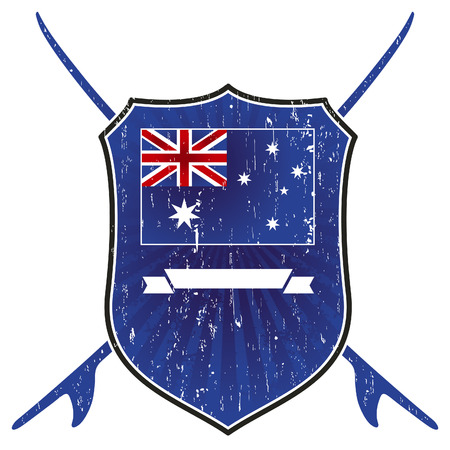 tabla de surf: grunge australiano escudo de surf