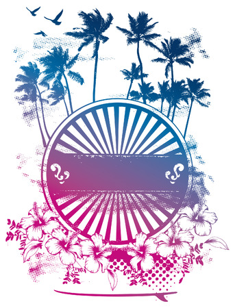 beauty surf shield with gradient Ilustrace