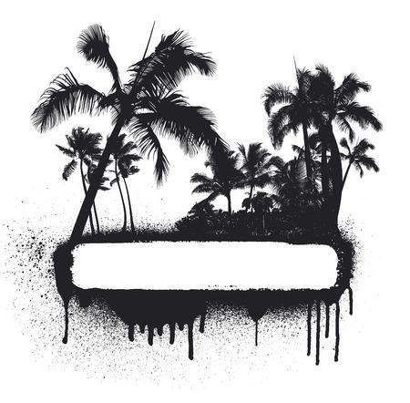 inky: inky grunge beauty summer banner Illustration