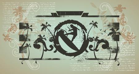 inky: grunge inky shield with surf jump