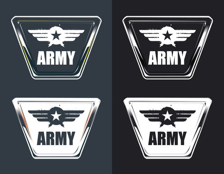 space wars: vintage army air force glossy shields Illustration