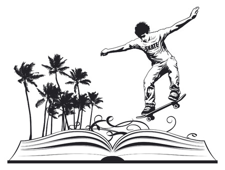adventure story: skate concept culture for teenagers Illustration