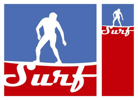 tabla de surf: americano posters de surf con jinete y espacio de la copia