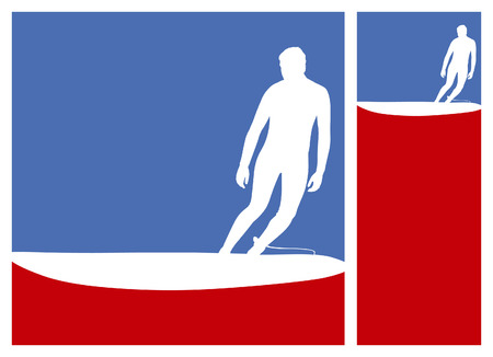 tabla de surf: marcos de la cultura de surf surfista americano con cresta de la ola