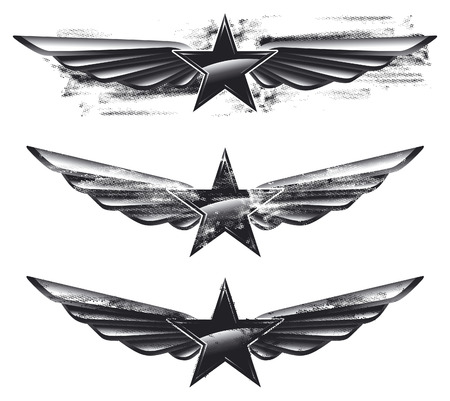 vintage glossy and grunge air force shields