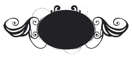 copy space: vintage shield with copy space