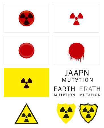 chernobyl: radioactive mutation flag and sign Illustration