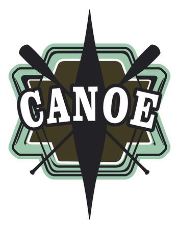 recreational pursuit: vintage canoe shield