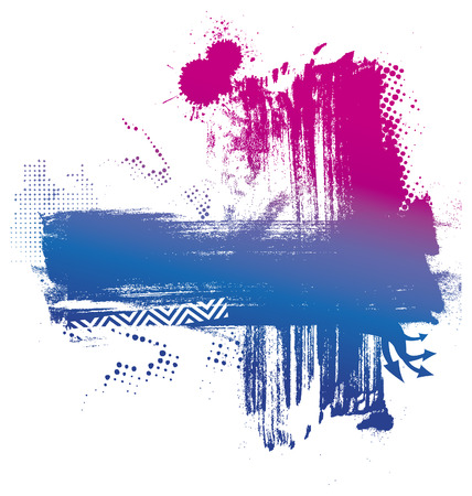 inky: beauty stencil inky background with gradient