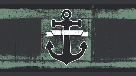 copy: stencil flag with anchor and copy space Illustration