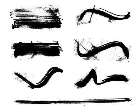 blemishes: set of black stained inkblot
