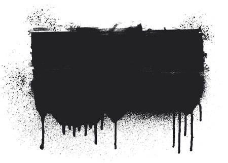 inky: stencil inky black banner with copy space Illustration