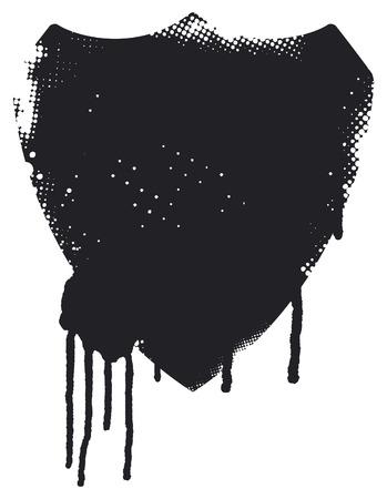 inky: vintage inky stencil shield Illustration