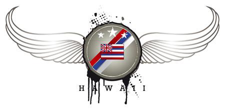 inky: hawaii inky shield with wings