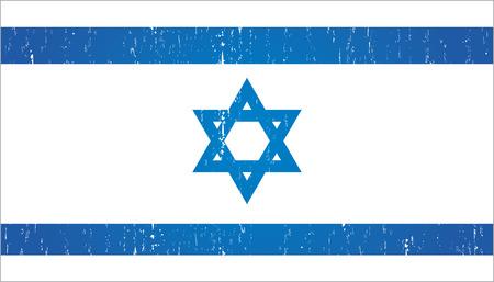 israel flag: vintage israel flag
