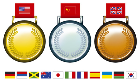 frantic:  medals with flags
