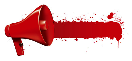 inky: megaphone with inky banner