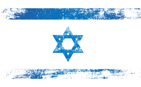 persecution: israel flag with stencil style