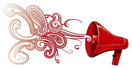 voices: meg�fono procesamiento con voces Vectores