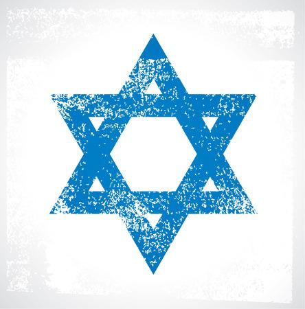 israel people: stencil star