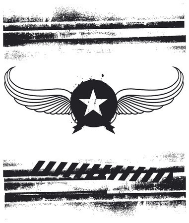 retro air force shield with grunge background
