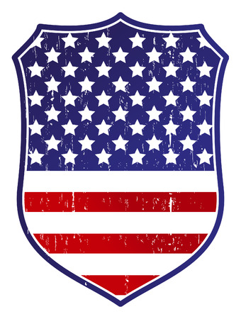 us flag grunge: vintage united states grunge shield