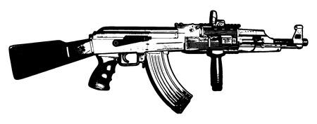 machine gun vector
