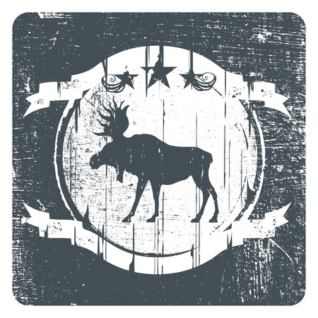 moose grunge shield with copy space