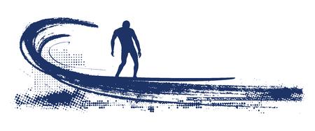 long board surfer sliding pipeline wave