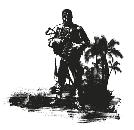 inky: soldier in the inky jungle Illustration