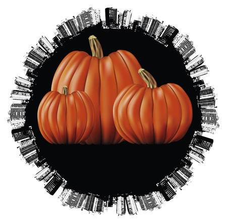 terrify: halloween world day with many pumpkins Illustration