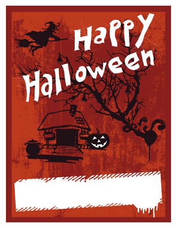 happy halloween: happy halloween inky background