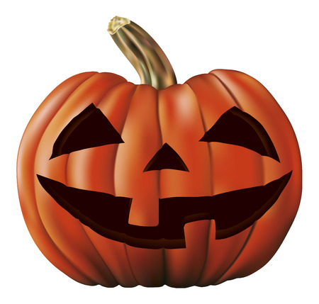 terrify: big pumpkin icon Illustration