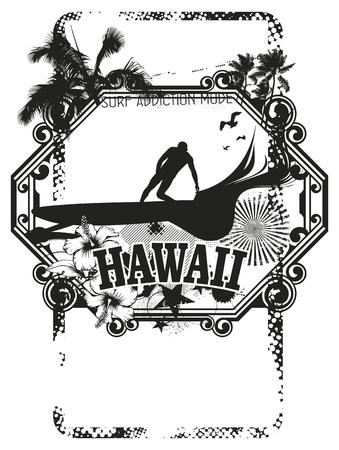 tabla de surf: Hawaiian de la resaca y el escudo del verano