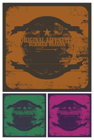 tabla de surf: grunge escudos de surf vendimia
