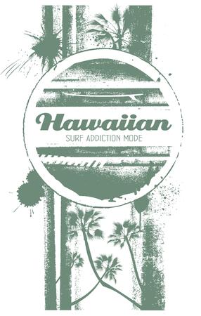 tabla de surf: de surf hawaiano escudo modo de adicción