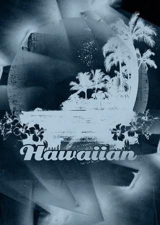 beauty grunge and vintage hawaiian beach scene Reklamní fotografie