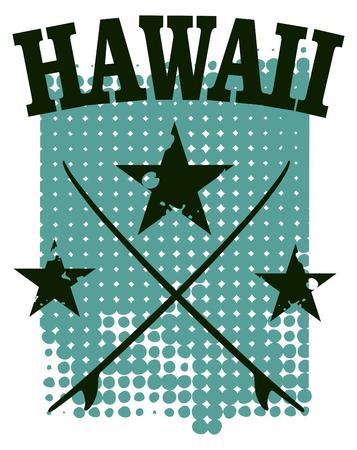tabla de surf: bandera de surf hawaiano con tablas de surf