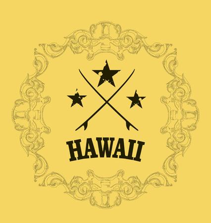 tabla de surf: escudo de surf hawaiano