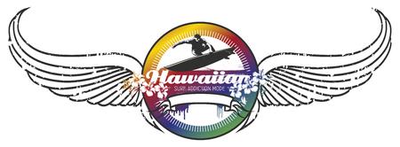 tabla de surf: escudo de surf hawaiano con las alas