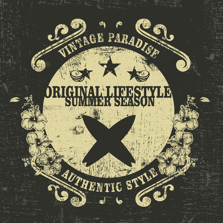 original lifestyle summer season grunge surf shield
