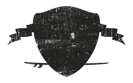 stencil surf shield with surfboard 向量圖像