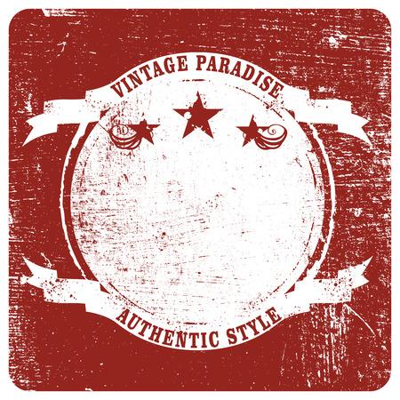 red vintage grunge shield