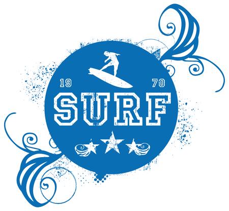 Stencil blue surf shield